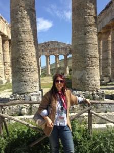 Raffaella al tempio di Segesta